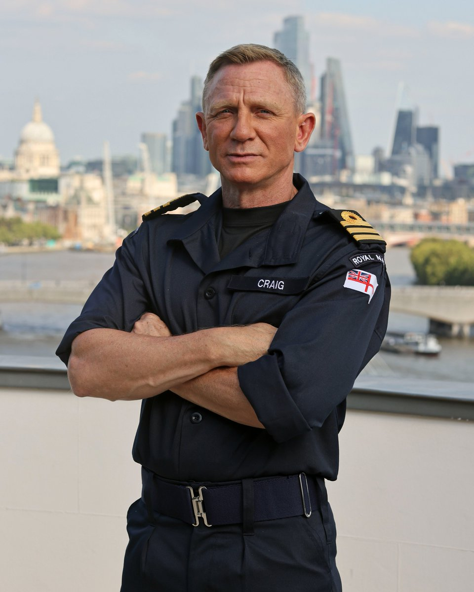 """Daniel Craig has been made an honorary Commander in the Royal Navy. Commander Craig said: """"I am truly privileged and honoured to be appointed the rank of Honorary Commander in the senior service."""""""