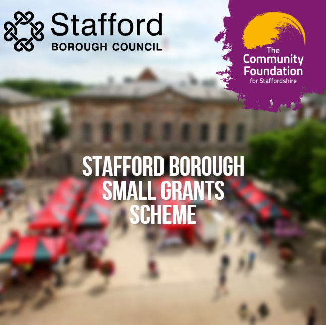 Are you working to support communities within the borough of Stafford? You could be eligible to apply for up to £1,000 via the Stafford Borough Small Grants scheme! Find out more online: ow.ly/57sF50G73E1 @Staffordbc @StaffsNews