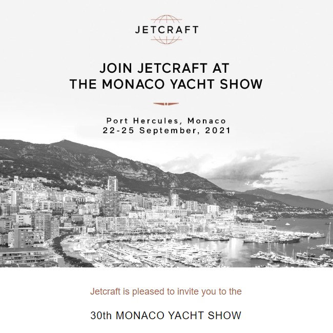 Join @JetcraftCorp  at the Monaco Yacht Show. More details at: https://t.co/3mxPSVpS3o  #monacoyachtshow #businessjet #flyprivate #businessaviation #luxurylifestyle