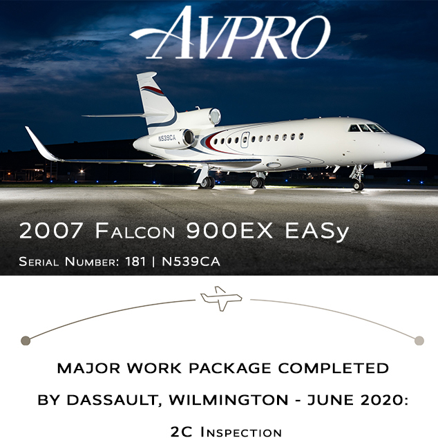 New to market - 2007 #Falcon #900EXy at @AvproJets  EASy II upgrades WAAS / LPV / CPDLC / ADS-B Out More details at: https://t.co/t90wb64qZo  #bizjet #bizav #aircraftforsale #privatejet #privateflying #jetforsale #businessaviation