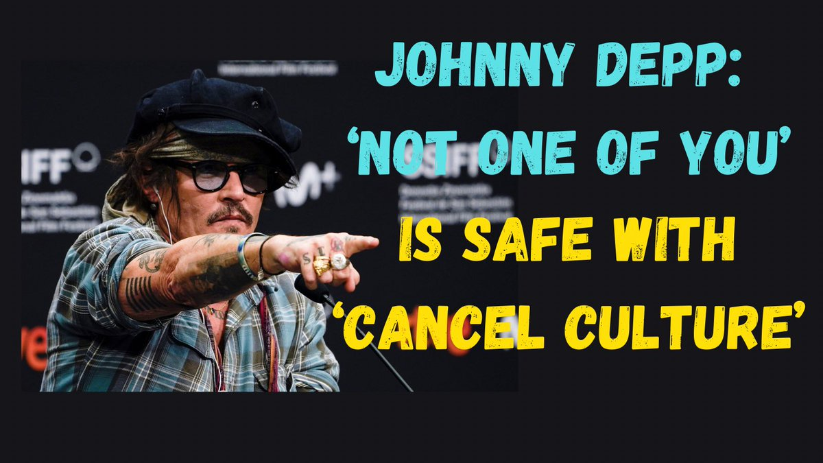 Johnny Depp: 'Not one of you' is safe with 'cancel culture' #JohnnyDepp #Hollywood #CancelCulture