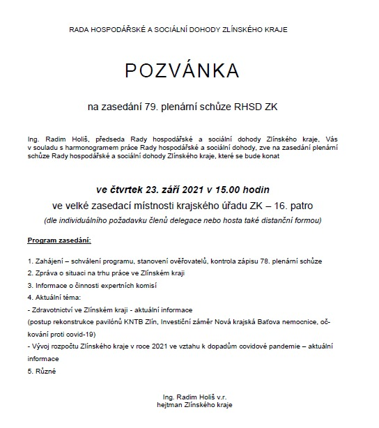 Ve Zlíně jednala #tripartita Zlínského kraje. Krajský hejtman p. @HolisRadim a sociální partneři diskutovali např. zaměstnanost - aktuálně je v kraji k dispozici 13 369 pracovních míst, počet uchazečů o zaměstnání je 11 360. Na stole byla i doprava nebo záležitost nové nemocnice.