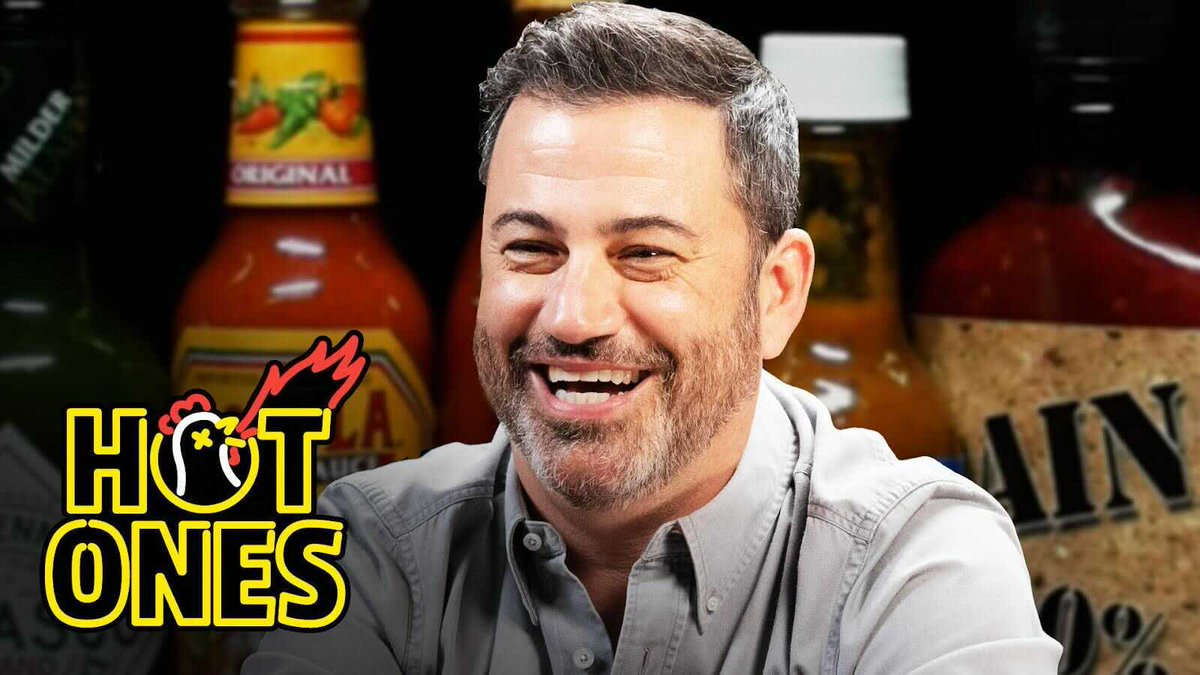 🚨 NEW #HOTONES ALERT 🚨 @jimmykimmel is the Emmy Award–winning elder statesman of late-night TV, but how is he with spicy food? Find out on the S16 PREMIERE of Hot Ones 🔥  WATCH NOW: https://t.co/dS9EaGEfZm Presented by @FranksRedHot https://t.co/UJioGI2MJ6