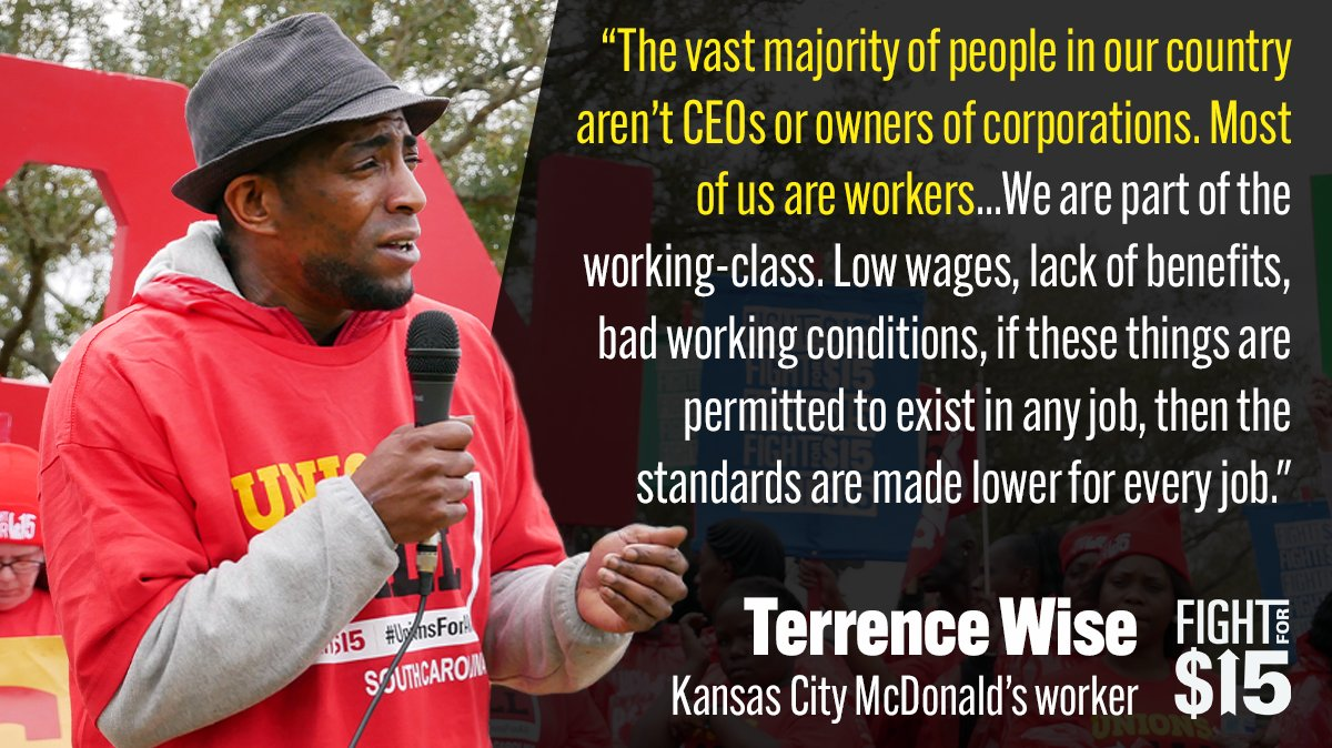 CEO's and lobbyists work together to rig the economy against us. Workers need to organize too. If we stand together, we can take the power back. #Fightfor15