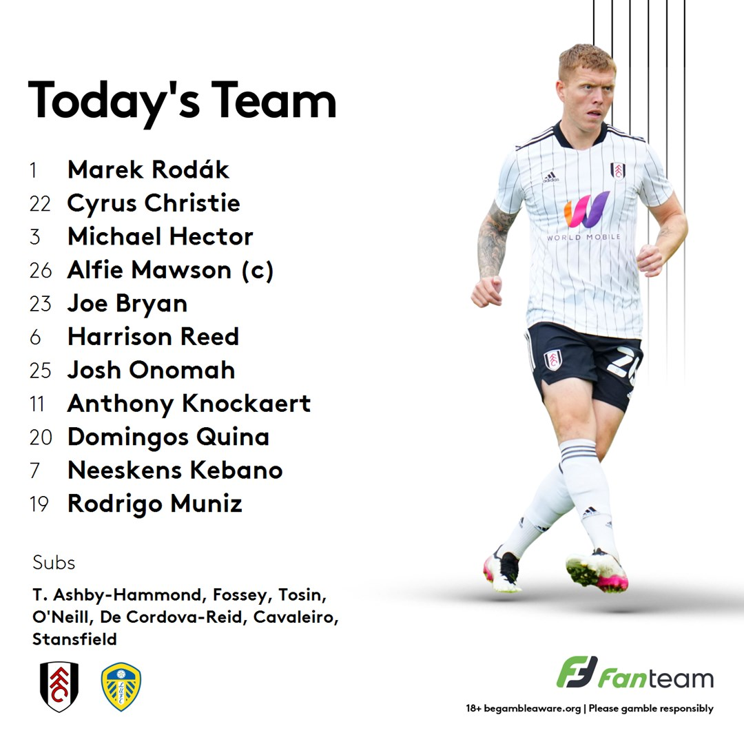 Not as young a side for Fulham as rumoured. Plenty of experience in there. #lufc