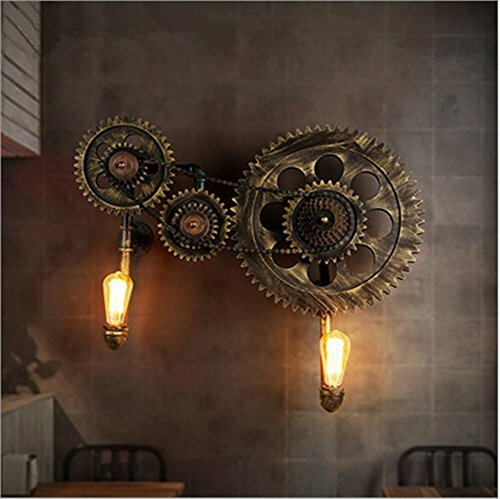 #steampunk https://t.co/d2CagNjCjM Atmko®Wall Lights Wall Light Vintage Industrial LOFT Steampunk Creative Gear Water Pipe Wall Lamp with E27 Socket for Bar Cafe Restaurant Decoration (Bulbs Not Included)