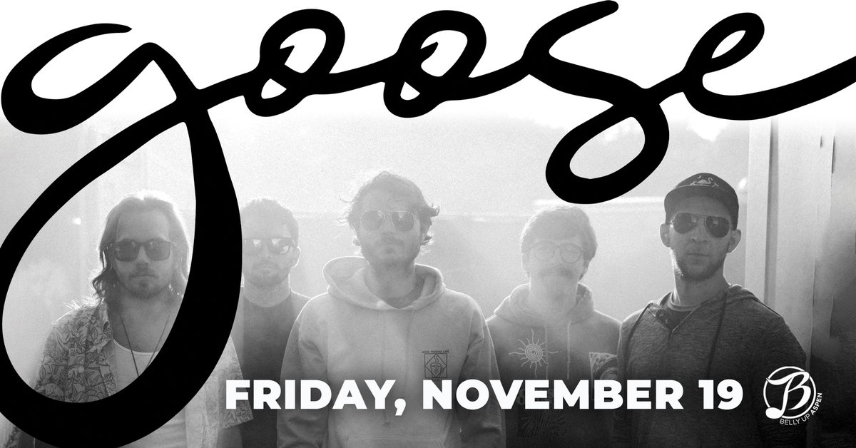 """Jam with """"one of the hottest and most intriguing acts in live music today"""" (Glide Magazine) @goosetheband on Friday, 11/19! Tickets: bit.ly/3nPtfbr"""