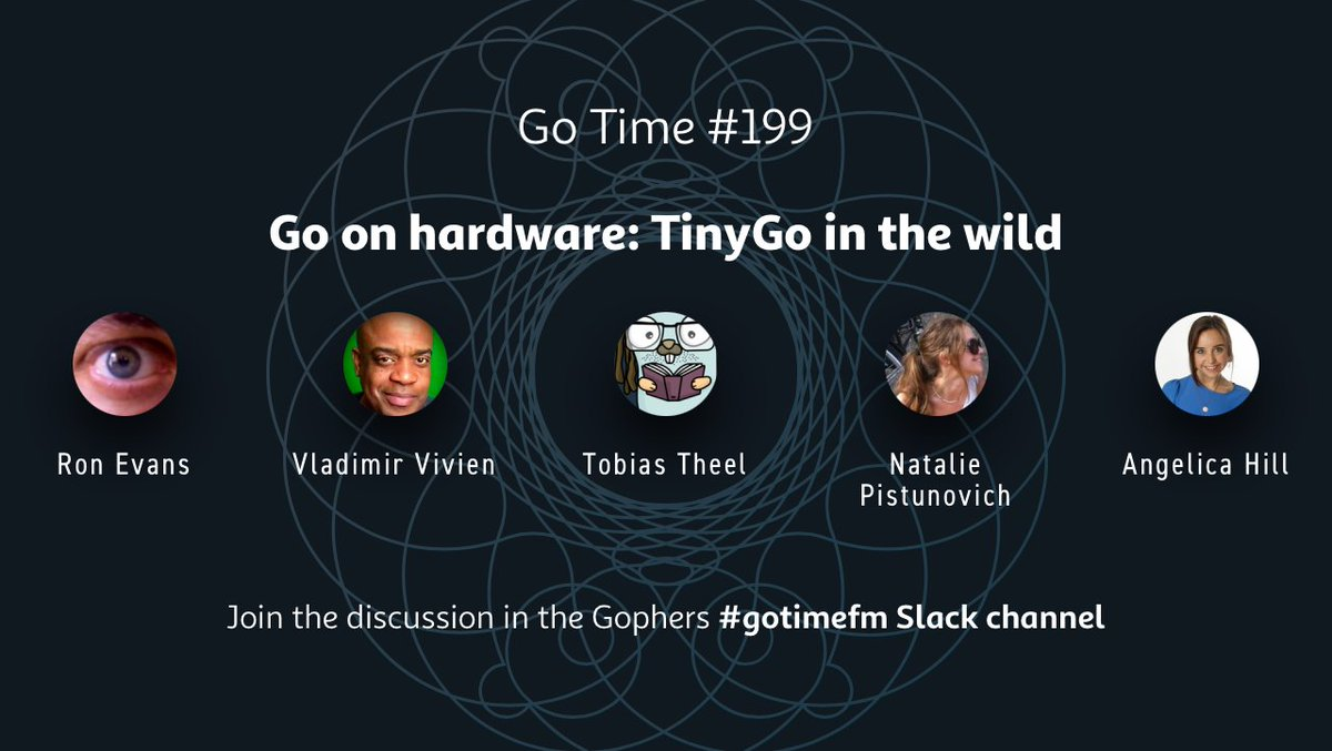 🎉 TODAY on Go Time LIVE 🎉 @TinyGolang in the wild! @Angelica_Hill & @NataliePis explore the world of #golang on hardware with @deadprogram, @VladimirVivien, & @Nooby_Games! ⏰ time.is/1632250800 👀 youtu.be/8GT3QheqvJY