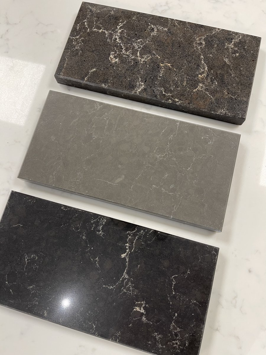 This week's samples come from  @CaesarstoneUK!   Caesarstone manufacture premium quartz surfaces, perfect for both residential and commercial projects.  Discover more of their samples by calling in our showroom! 🌟  #quartzworktops #quartzcountertops #homeinspo