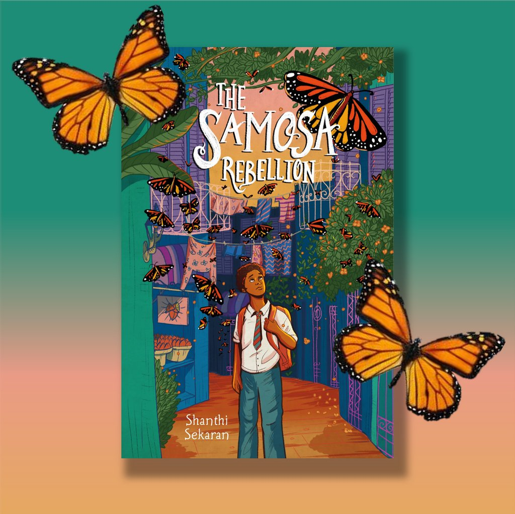 Critically acclaimed author @Shanthisekaran makes her middle grade debut with this timely and stunning novel in which a young boy and his friends must rescue his grandmother from a relocation camp. Happy #bookbirthday to THE SAMOSA REBELLION!