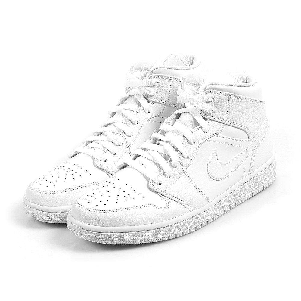 RESTOCK Air Jordan 1 Mid 'Triple White'  FNL: JD: