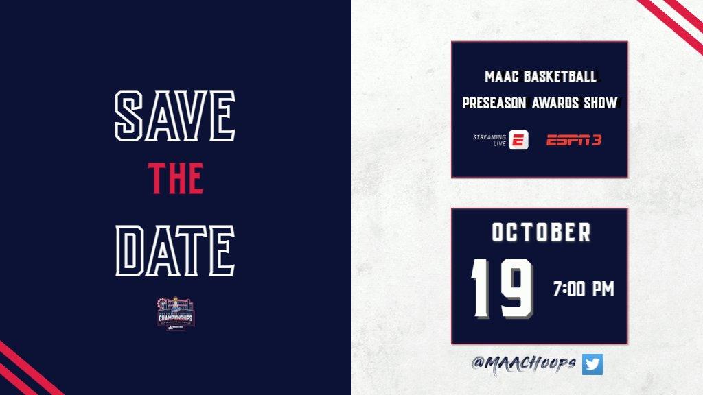 𝙈𝙖𝙧𝙠 𝙮𝙤𝙪𝙧 𝙘𝙖𝙡𝙚𝙣𝙙𝙖𝙧𝙨 ✍ 📆 2️021 MAAC Basketball Preseason Awards Show #maAChoops22