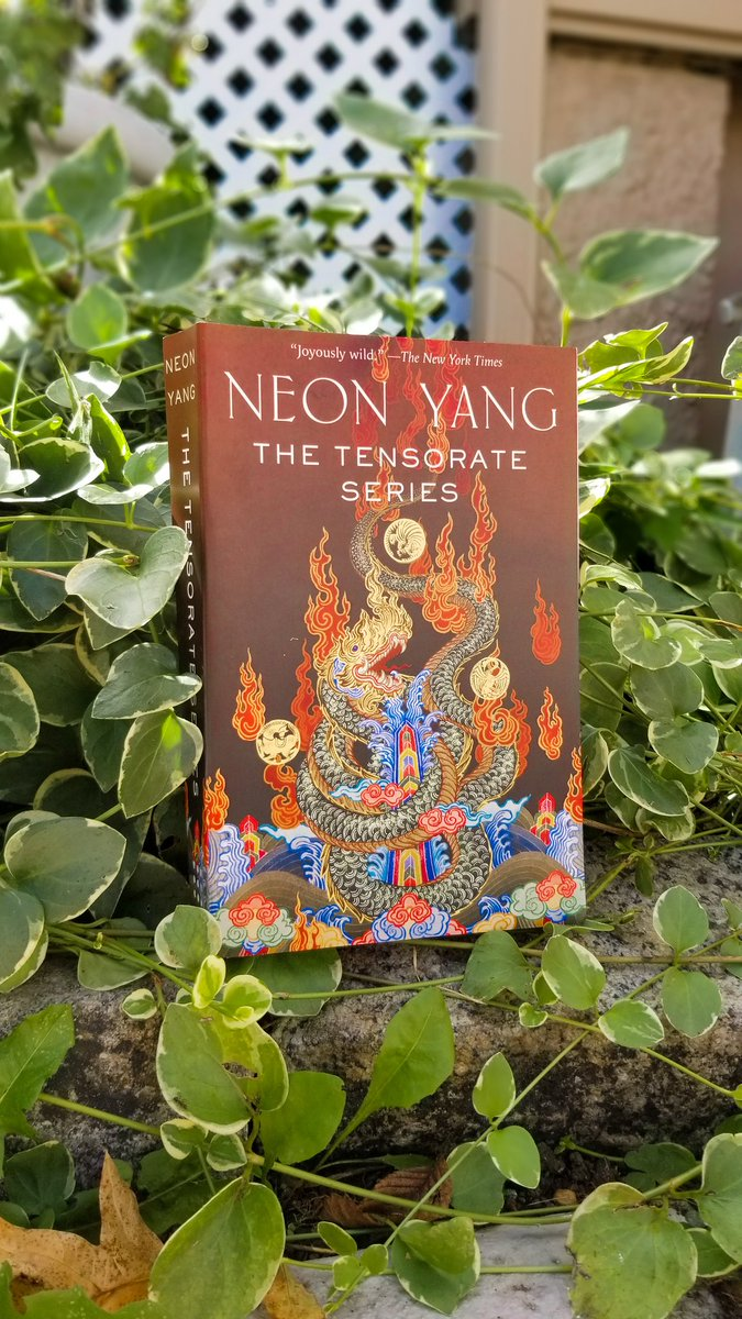 Happy #bookbirthday to @itsneonyang's THE TENSORATE SERIES, an omnibus containingThe Black Tides of Heaven,The Red Threads of Fortune,The Descent of Monsters, andTo Ascend to Godhood! publishing.tor.com/thetensoratese…