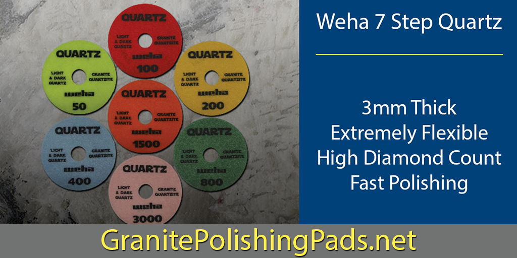 Looking for a #polishing pad that will work on virtually every #stone type? goo.gl/np3JDy @WehaUSA #quartz #silestone #diamondtools #cambria #zodiaq #granite #engineeredstone #caesarstone
