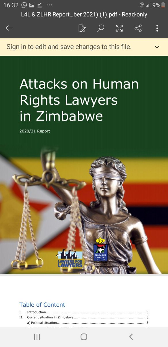 Together with our partners @L4L_INT & @IBAHRI, we launched this report chronicling the trials & tribulations of Zimbabwean lawyers. We urge Zim authorities to embrace & accept the critical recommendations & allow lawyers to do their work without hindrance & interference.