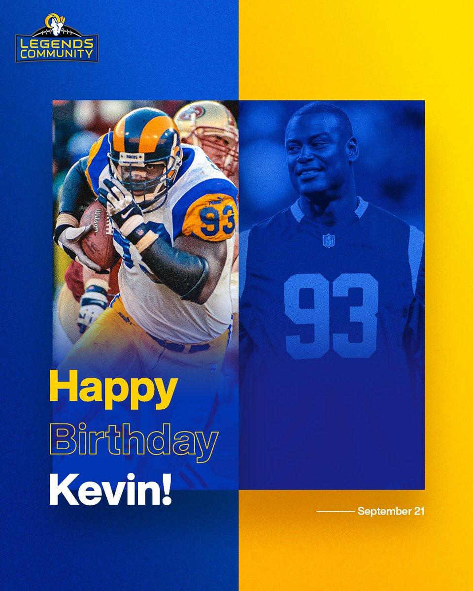Celebratin' a Rams Legend + Super Bowl champ 👏 Happy birthday, @KevinCarter_93! 🥳