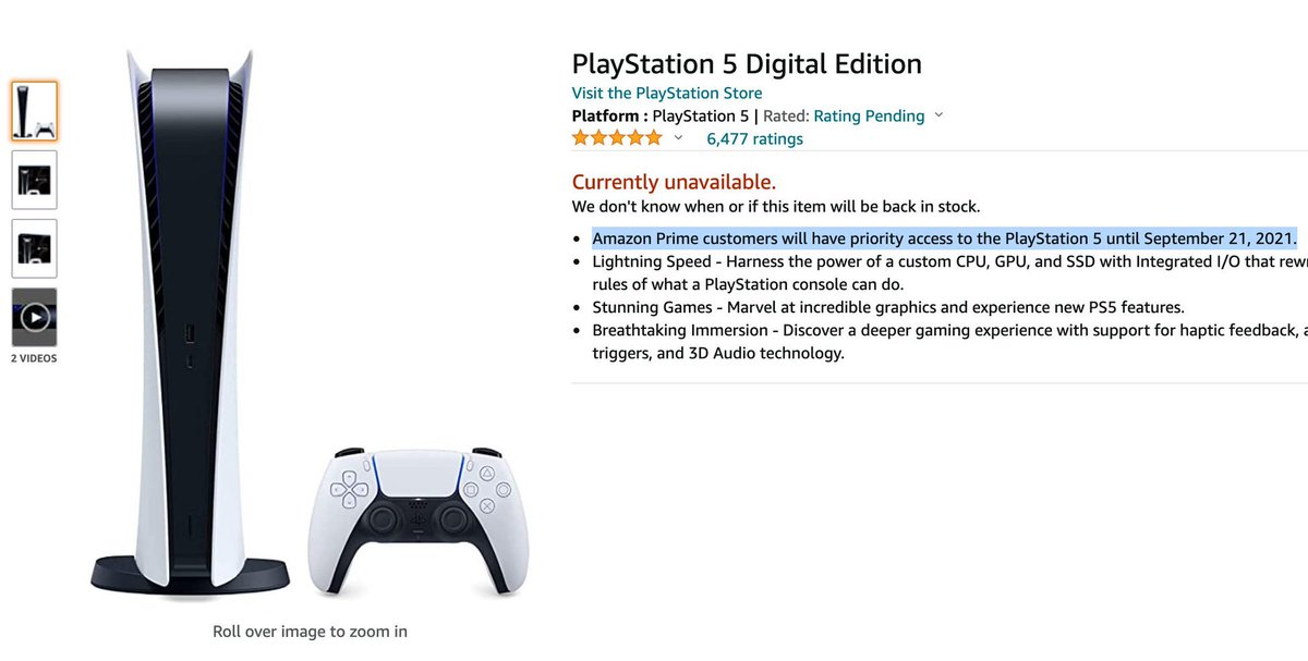 Digital PS5 should be restocking next for Amazon Prime members  Keep link ready =