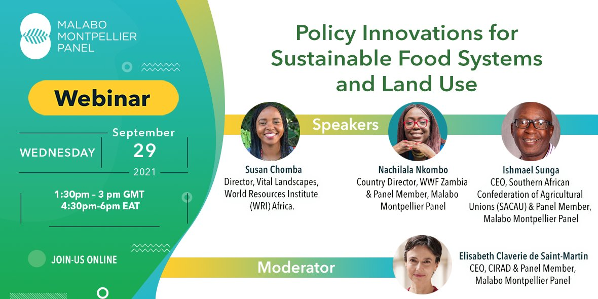 test Twitter Media - What policies can help African govts achieve a sustainable food and land use systems transformation?   On 29 Sept, join @MaMoPanel, @wwfzambia and @WorldResources as they discuss #BetterFoodSystems #BetterLandUse: https://t.co/e0Kc6MqUIG https://t.co/qGwvuumNRB