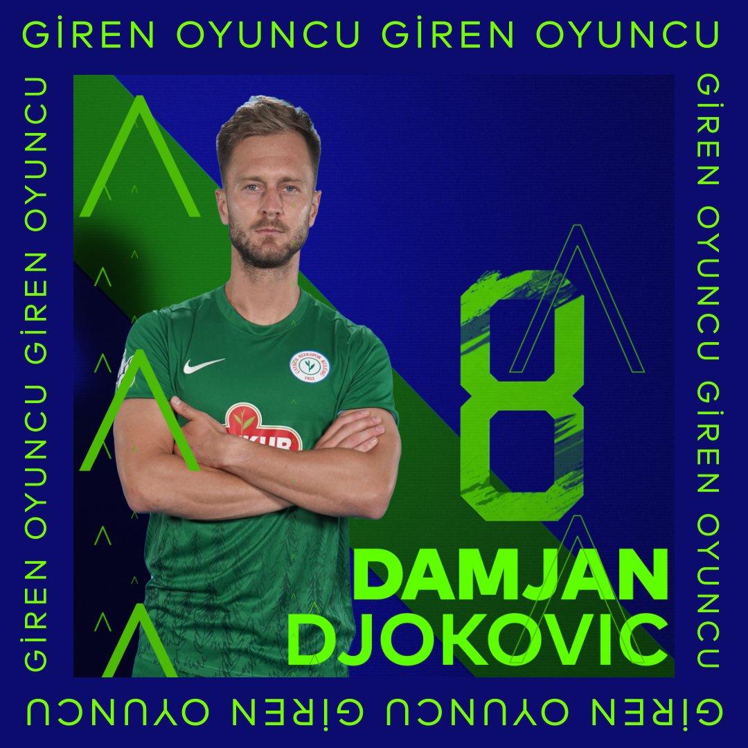🔃 Takımımızda oyuncu değişikliği  🔽 Holmen 🔼 Djokovic  ⏱️ 81'  #ÇRSvALT │ #KalbineYakınTut