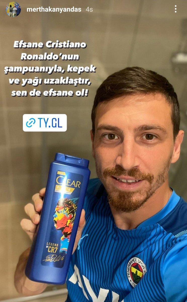📲 Mert Hakan Yandaş: 'Efsane Cristiano Ronaldo'nun şampuanıyla, kepek ve yağı uzaklaştır, sen de efsane ol!'