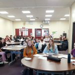 Image for the Tweet beginning: AHS Sixth Formers training to