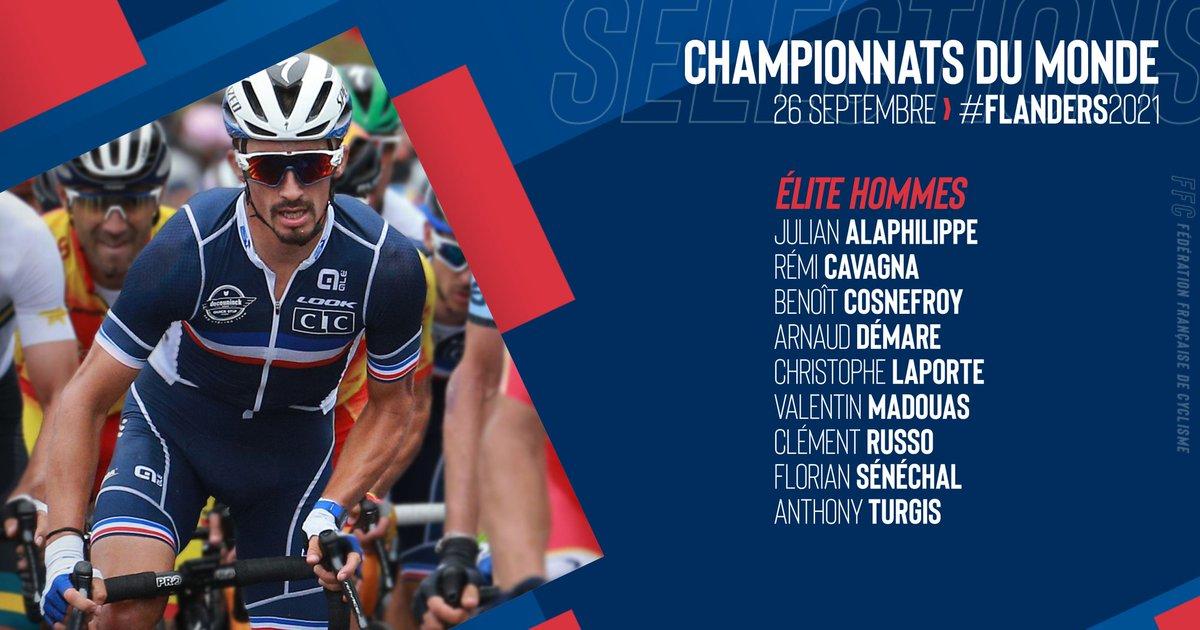 Arnaud Démare et Valentin Madouas représenteront les couleurs de l'équipe de France dimanche dans les Flandres pour la course en ligne du Championnat du Monde.