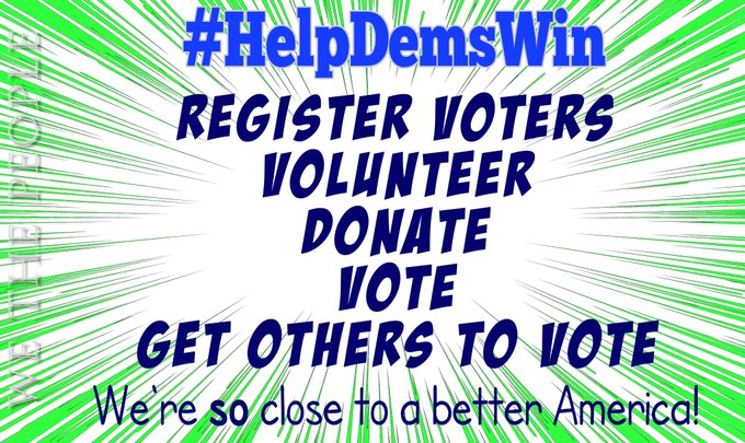 Estamos tan cerca de tener la América que todos queremos  Justo y equitativo para todos, derechos de voto y democracia asegurados, derechos reproductivos protegidos, etc.  Para terminar el trabajo, necesitamos elegir más (y MEJOR) demócratas  Vamos a #HelpDemsWin  #wtpBLUE https://t.co/qbO0eWRB0b