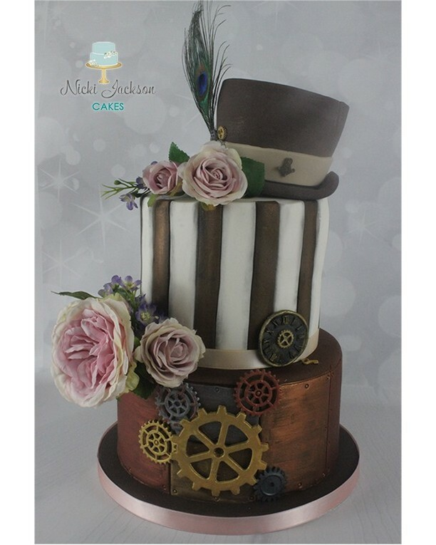 #Cake 🍰 Awesome of the Day ⭐ ➡️ #Steampunk ⚙️ Pièce Montée #Birthdaycake 🎂 With Hat 🎩 Cake via @NJacksonCakes #SamaCake 🎂 ➡️ View More #SamaCollection 👉 https://t.co/Kugls40kPu