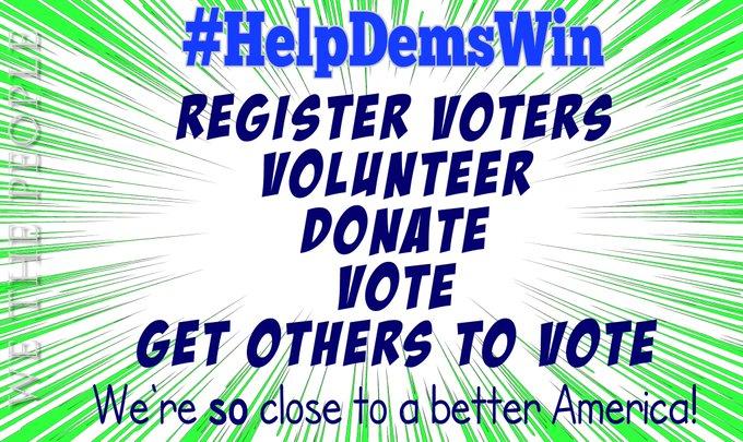 Nous sommes si près d'avoir l'Amérique que nous voulons tous  Juste et équitable pour tous, droits de vote et démocratie garantis, droits reproductifs protégés, etc.  Pour terminer le travail, nous devons élire plus (et mieux) démocrates  Allons-#HelpDemsWin  #wtpBLUE @wtpBLUE https://t.co/q410CxVUI8