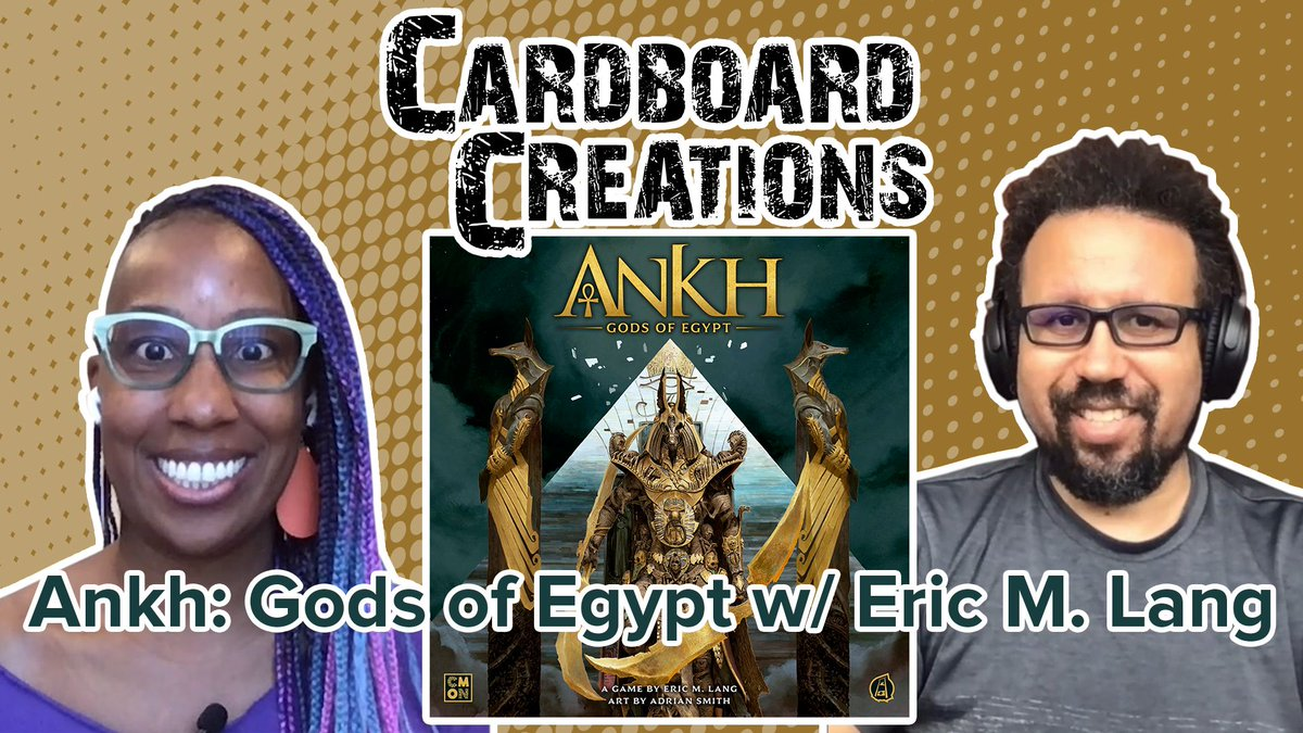test Twitter Media - Candice talks with Eric M. Lang about the game Ankh: Gods of Egypt from CMON. Find out how the game came to be.—Lincoln #CardBoardCreations  https://t.co/VhVh4uNac8 https://t.co/6olnhIAMC6