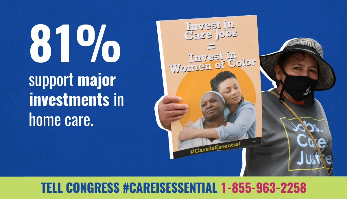 🗳️ Voters from blue and red states agree: we want Congress to invest in care to make it easier for seniors, people with disabilities and families to get the care they need.  Call Congress to ensure they support home care workers 1-855-963-2258. #CareIsEssential