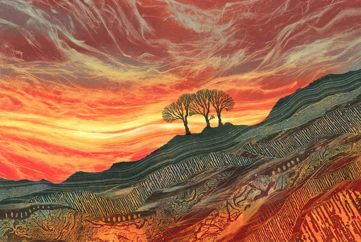 'Blaze of glory' by Northumberland artist Rebecca Vincent #WomensArt