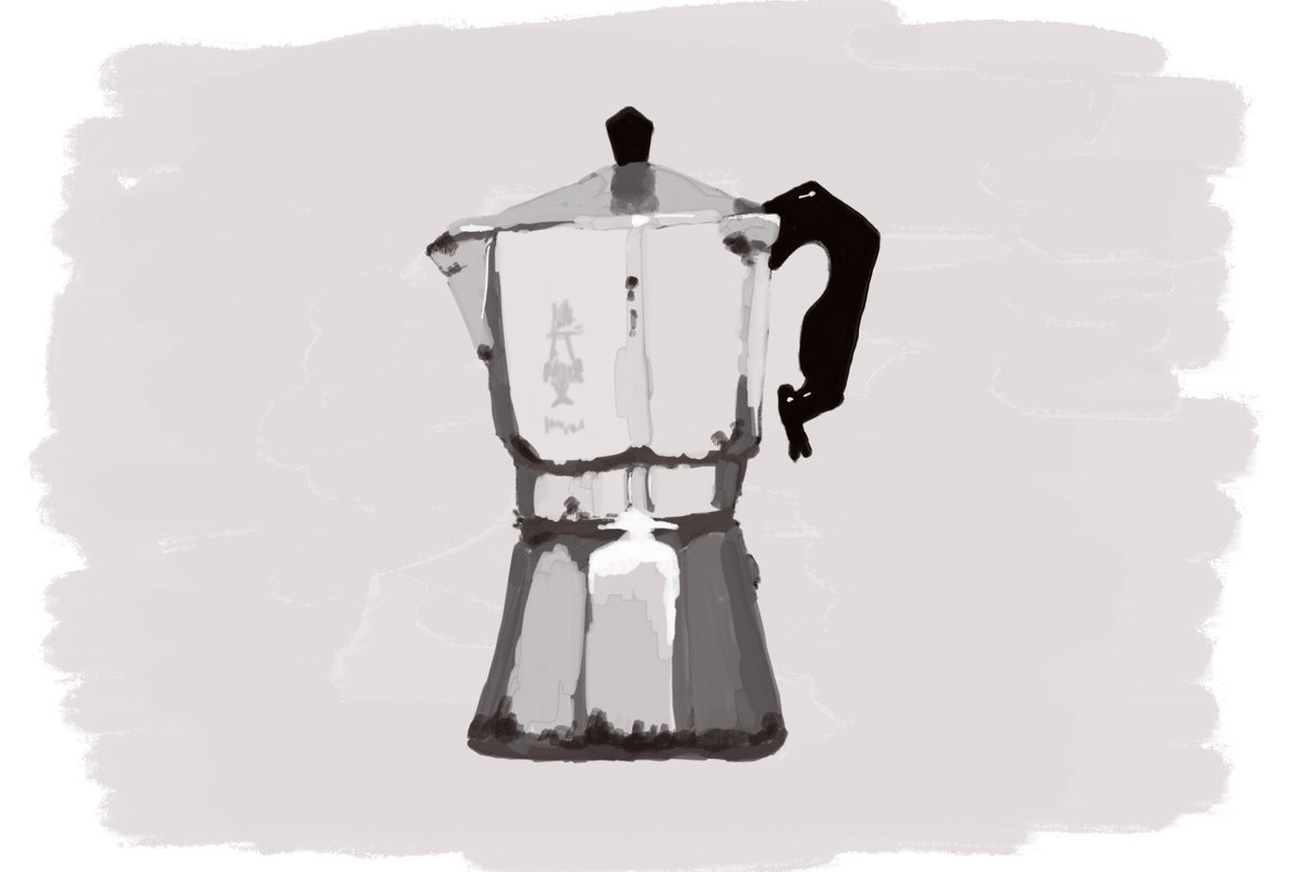Here is my #DailyDrawing06 – Moka Gouache Just a quick one which may explain the wonkiness. Happy with the result though