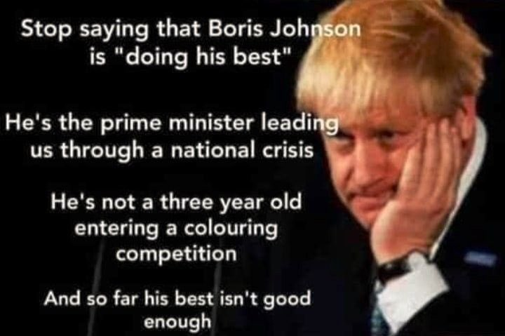 According to #LiarJohnson rising food & energy costs won't be a problem b/c wages are rising. As an employer my rent, energy supplies & the BrexitTax on national insurance are all shooting up. This means my prices will go up & crazy inflation See how this works PM?🤬 #JohnsonOut