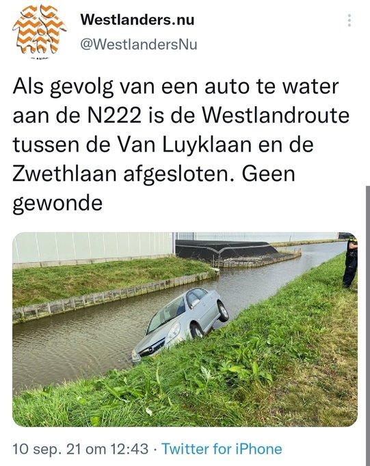 RT @Rbdbert: Wat is handiger, slootjes dempen of opletten waar je rijd? @WestlandersNu https://t.co/02PTF12hC9