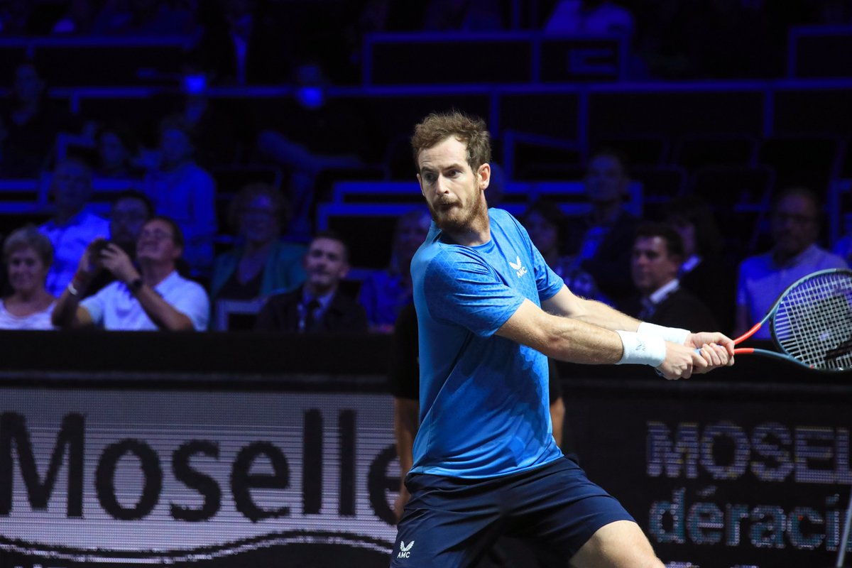 Strong match for a focused @andy_murray who defeats Ugo Humbert, 4-6, 6-3, 6-2 at @MoselleOpen