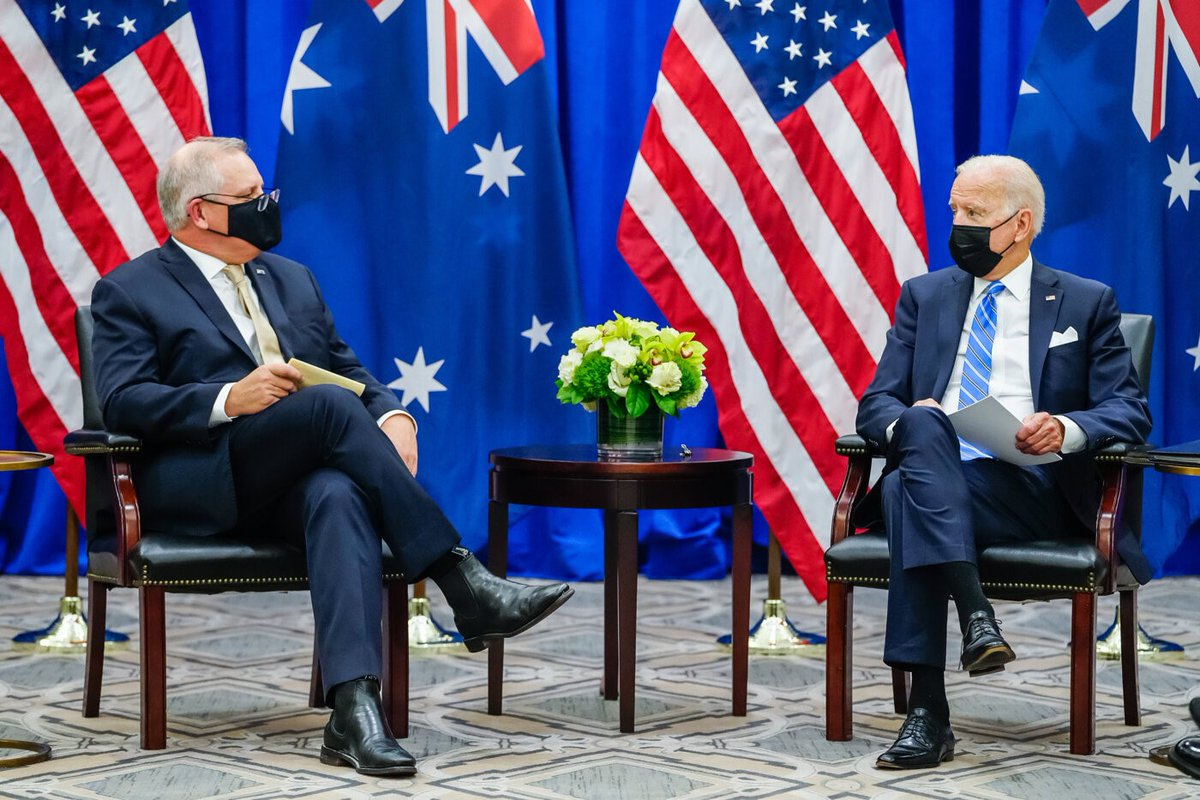 It was great to meet with Australian Prime Minister Scott Morrison today in New York. Our nations have stood together for over 70 years — and we're committed to working together to secure a free and open Indo-Pacific region and tackle the shared challenges we face.