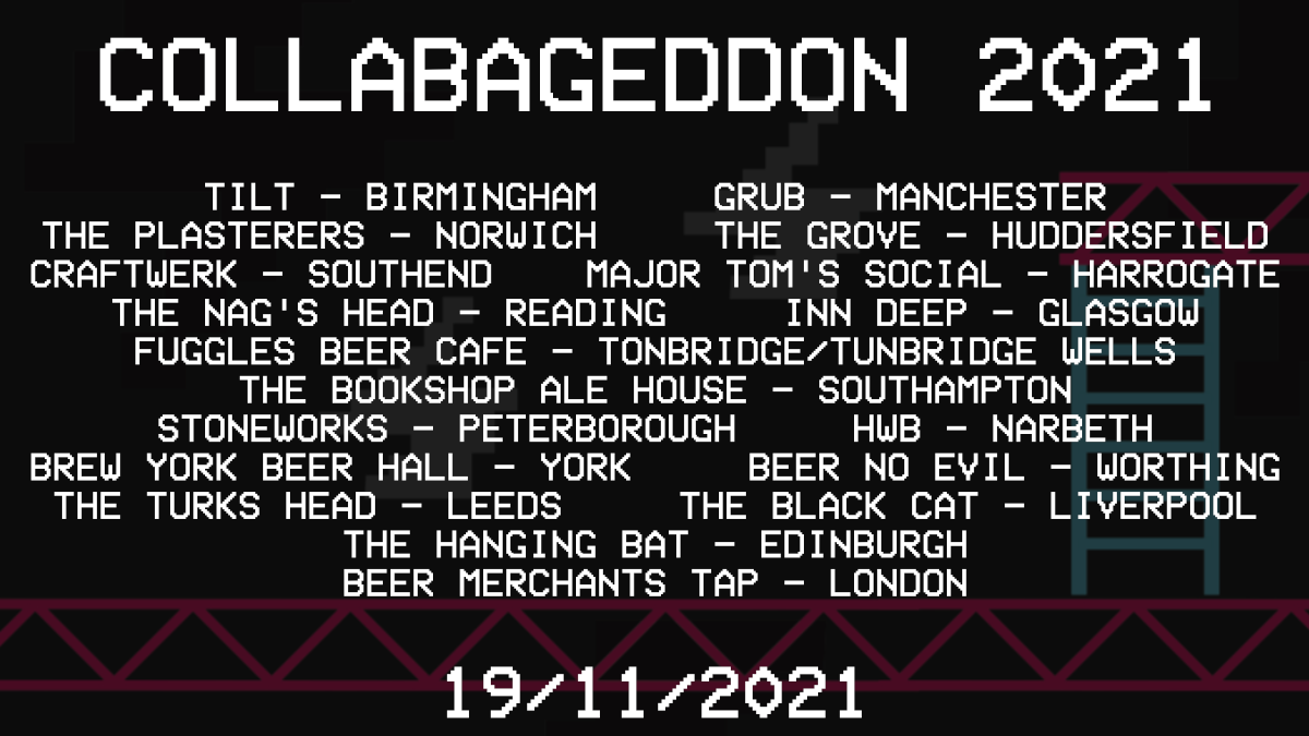 Here you go! Here's where to taste all 12 of this years incredible beers. What a line up!