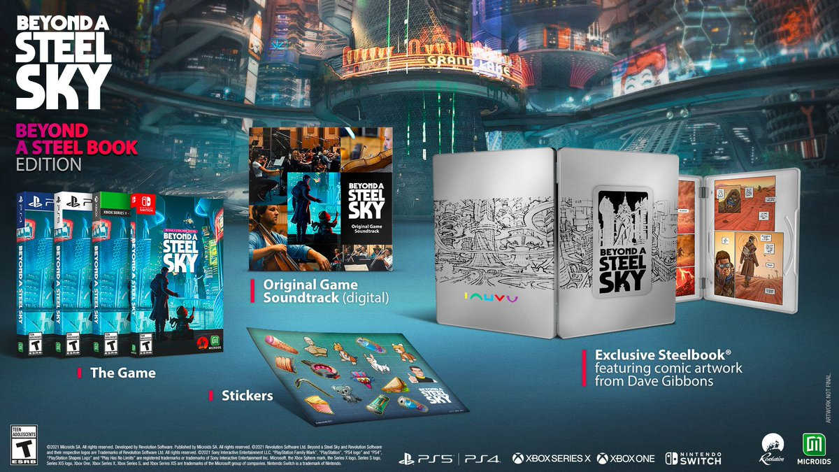 Beyond A Steel Sky: Beyond A SteelBook Edition (Switch) pre-order on Amazon: