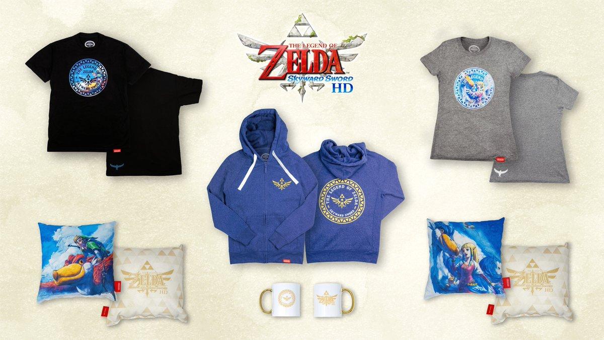 The Legend of Zelda: Skyward Sword HD merch is up on the official Nintendo Store: