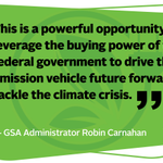Today Administrator @GSACarnahan and Council on Environmental Quality Chair @BrendaMallory46 teamed up to discuss the federal government's role in accelerating the adoption of zero-emission vehicles. Read more: https://t.co/4rGkgWwc9c