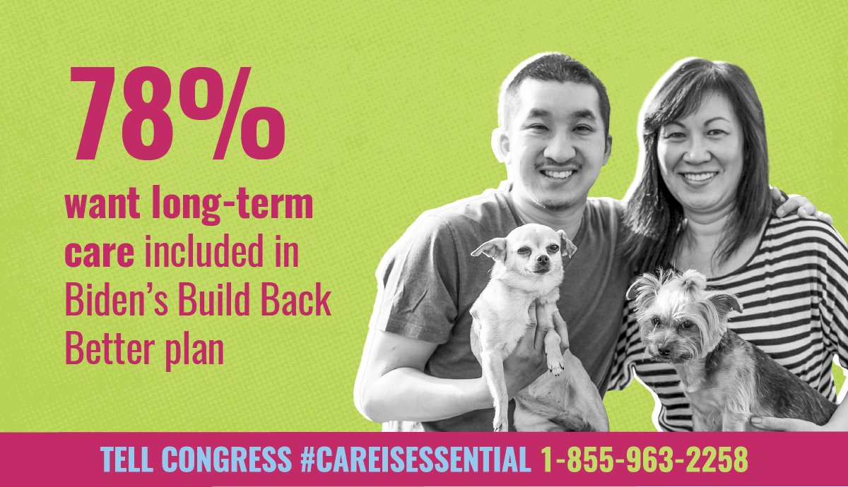 🗣️ Voters have spoken: it's time for Congress to invest in home care to create good union jobs and expand access so working families get the care they need. We must act NOW. Call Congress and tell them #CareCantWait 1-855-963-2258. #CareIsEssential