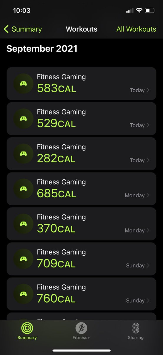 Holy cow I really been going hard at the #FitnessGaming this week 😂 I blame all the amazing new content that just came out for BeatSaber, SynthRiders and Audio Trip. It's been a real treat lately in #VirtualReality 😍 #OculusQuest2