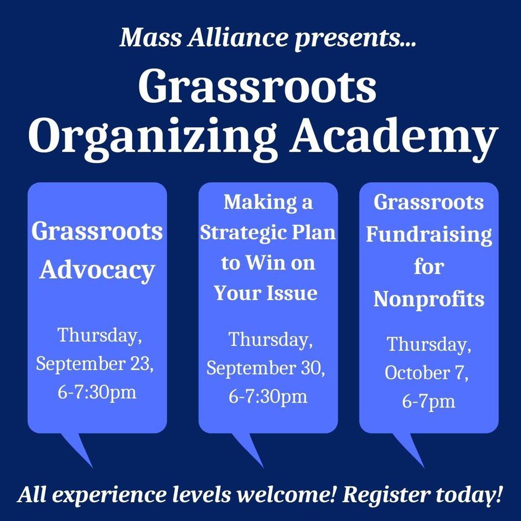 Mass Alliance: Grassroots Organizing Academy - registration is open
