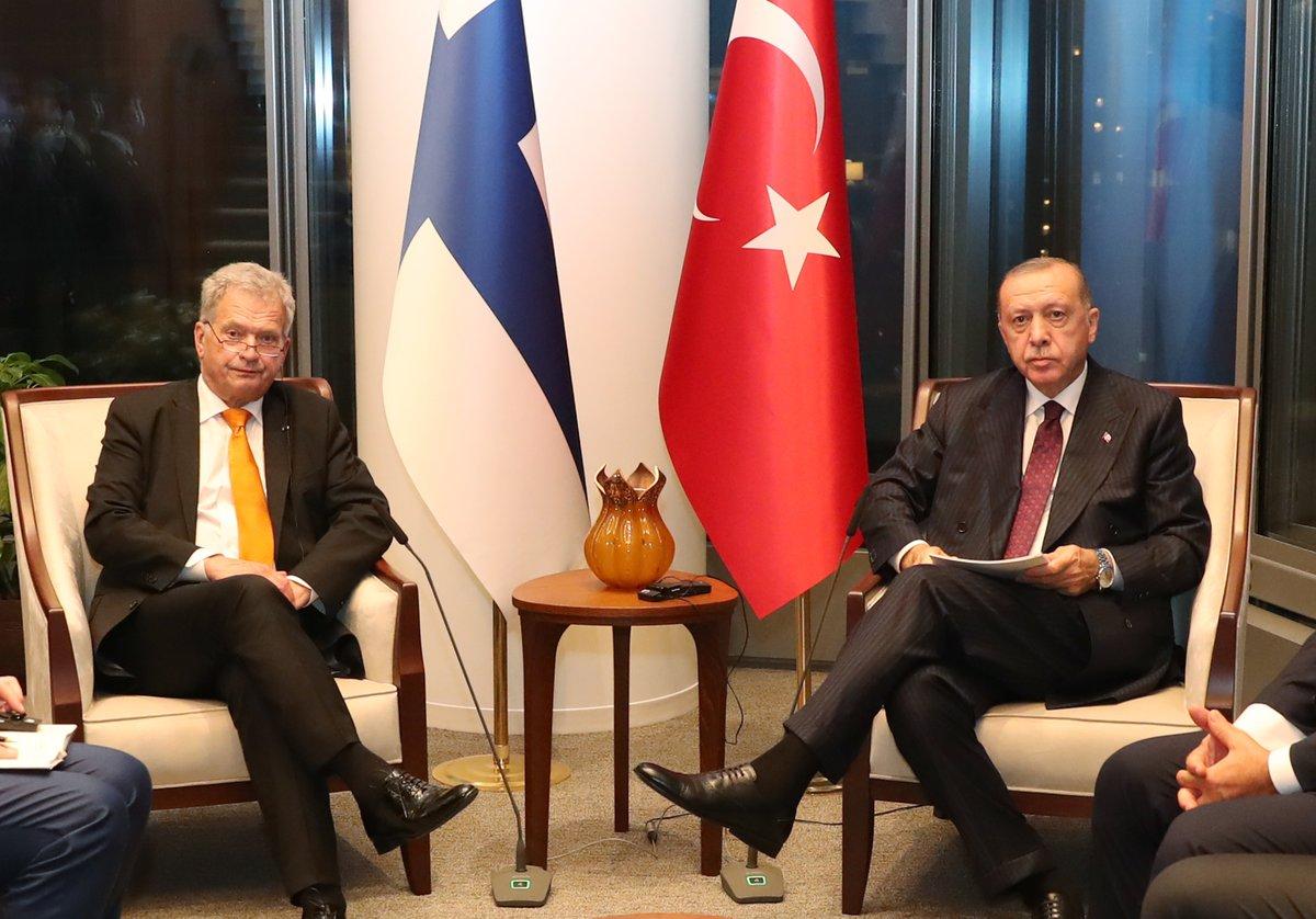 Cumhurbaşkanımız Recep Tayyip Erdoğan, Birleşmiş Milletler (BM) 76. Genel Kurulu'na katılmak üzere bulunduğu New York'ta, Finlandiya Cumhurbaşkanı Sauli Niinistö ile bir araya geldi.