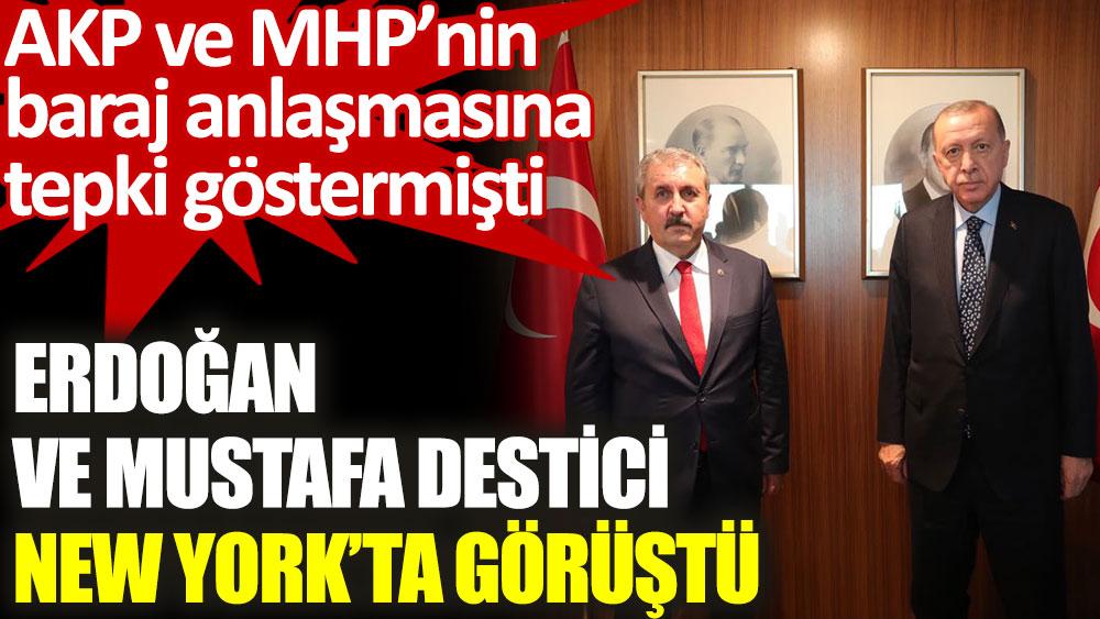 AKP ve MHP'nin baraj anlaşmasına tepki göstermişti! Erdoğan ve Mustafa Destici, New York'ta görüştü bit.ly/2VYXReX