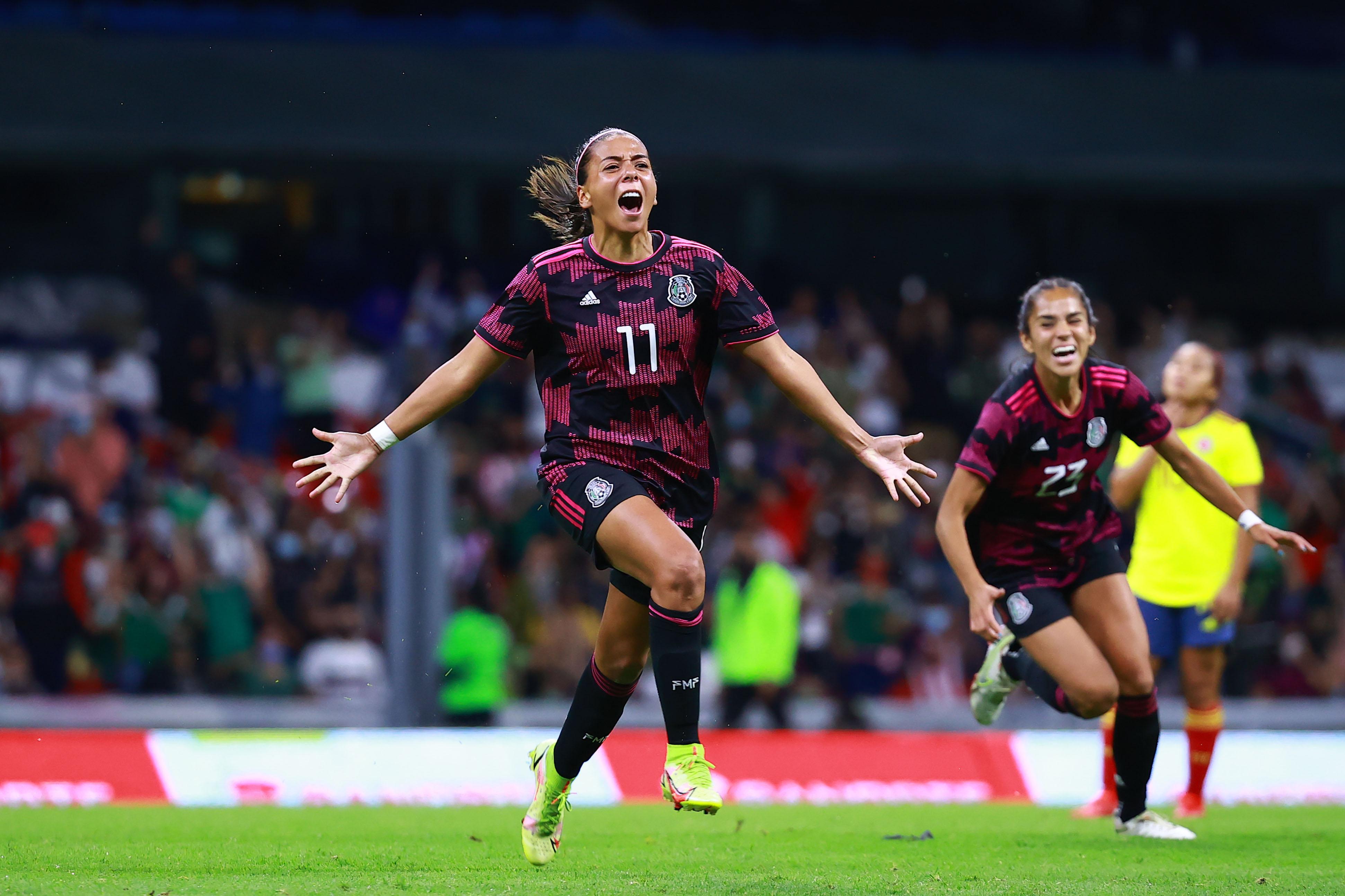 México vs Colombia 2-0 Amistoso Femenil 2021