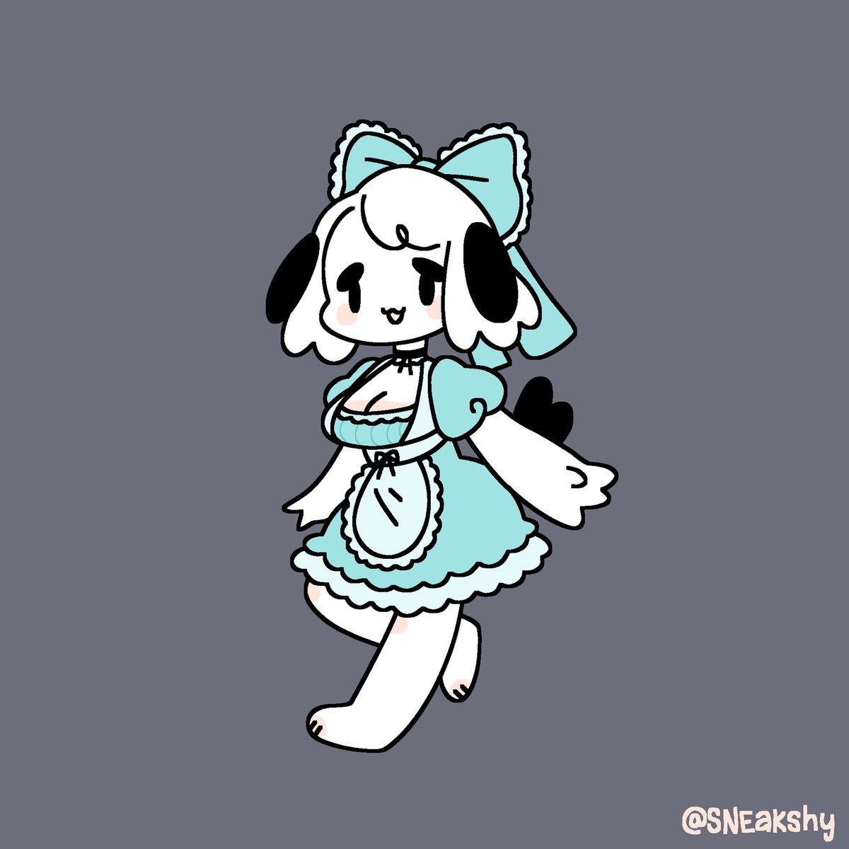 maid pup is so cute!! @pupkittyfan1