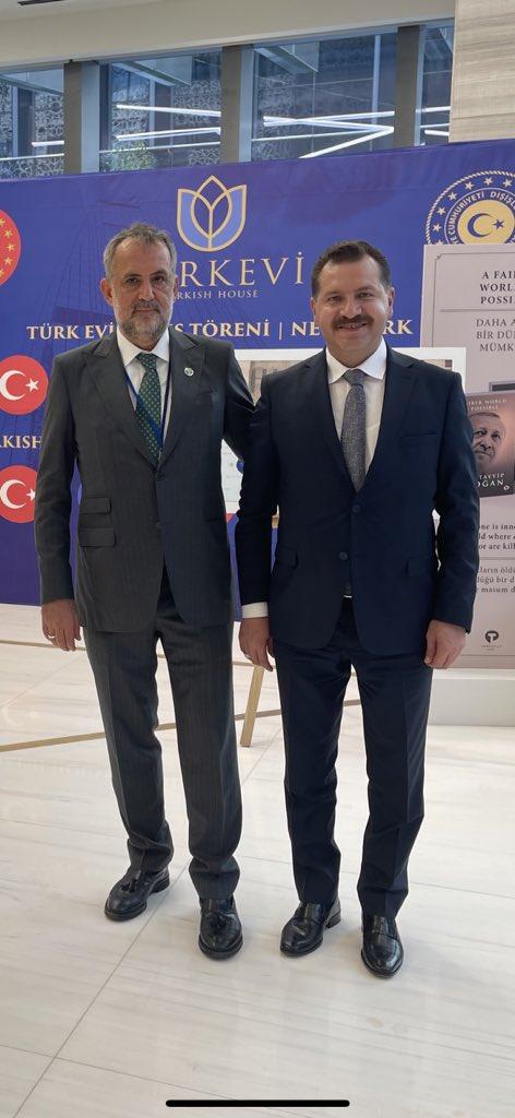 Balıkesir Büyükşehir Belediye Başkanı Yücel Yılmaz ile Newyork Türk Evi'nde...