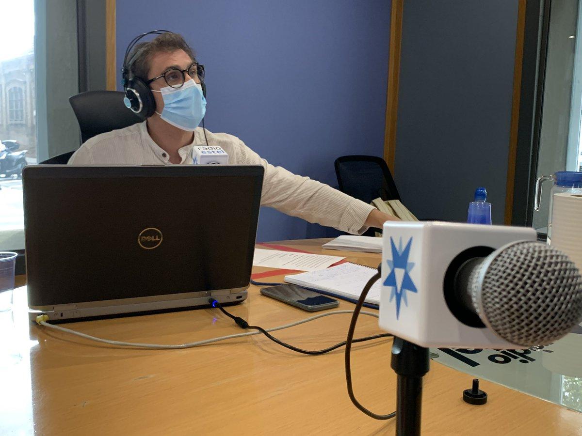 Contents a #RàdioEstel de tenir-vos als nostres estudis! Gràcies! @elmatiEstel